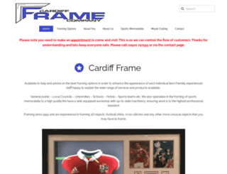 cardiffframe.com screenshot