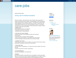 care-jobs.blogspot.com screenshot