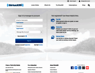 Access careriusxm manage your siriusxm account sign in page load speed analysis publicscrutiny Images