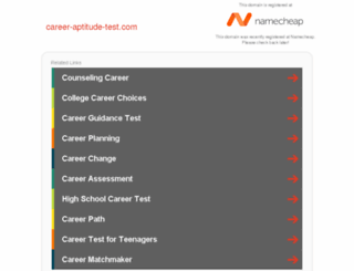 career-aptitude-test.com screenshot