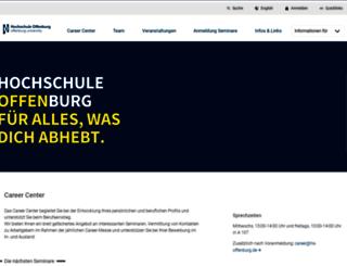 career-center.hs-offenburg.de screenshot