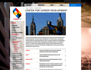 career.cooper.edu screenshot