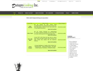 career.dataprolinking.info screenshot