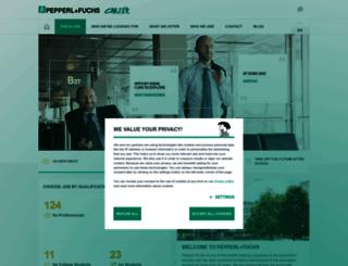 career.pepperl-fuchs.com screenshot