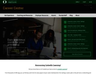 career.uoregon.edu screenshot