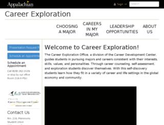 careerexploration.appstate.edu screenshot