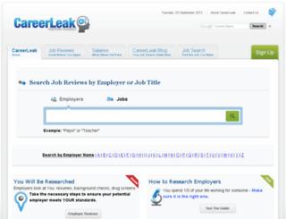 careerleak.com screenshot