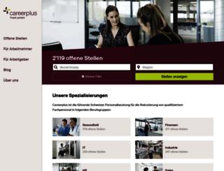 careerplus.ch screenshot