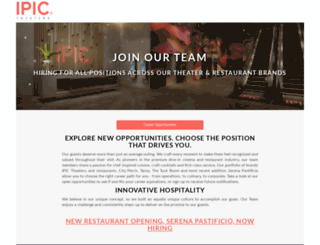 careers.ipic.com screenshot
