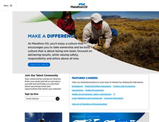 careers.marathonoil.com screenshot