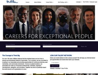 careers.milliken.com screenshot