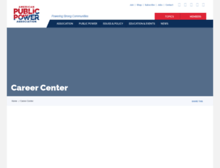 careers.publicpower.org screenshot