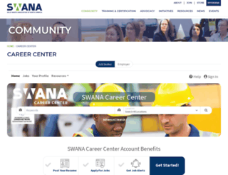 careers.swana.org screenshot