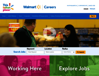 Careers.walmart.ca Screenshot  Walmart Careers