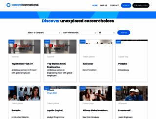 careersinternational.com screenshot