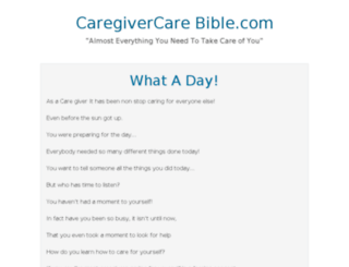 caregivercarebible.com screenshot