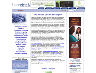 caregivershome.com screenshot
