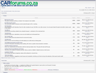 carforums.co.za screenshot