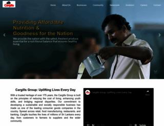 cargillsceylon.com screenshot