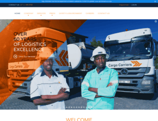 cargocarriers.co.za screenshot