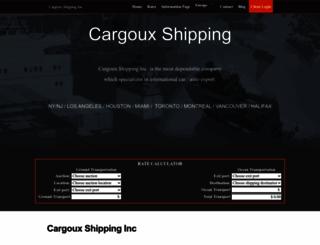 cargoux.com screenshot