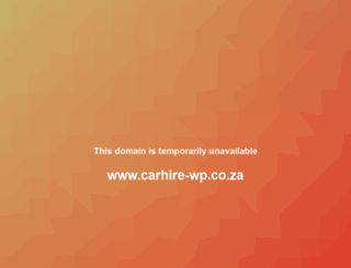 carhire-wp.co.za screenshot