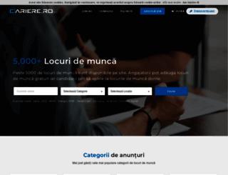 cariere.ro screenshot