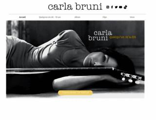 carlabruni.com screenshot