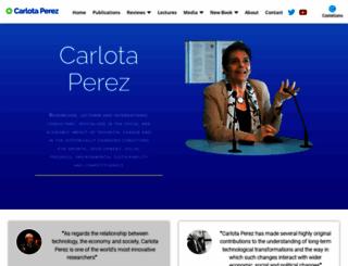carlotaperez.org screenshot