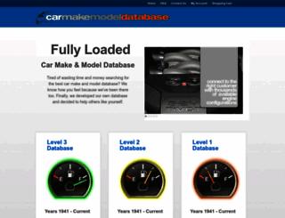 carmakemodeldatabase.com screenshot