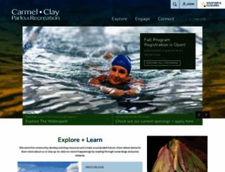 carmelclayparks.com screenshot