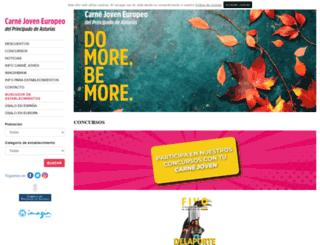 carnetjovenasturias.com screenshot