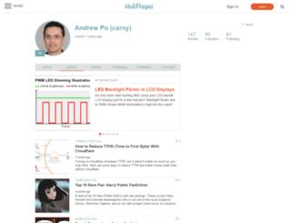 carny.hubpages.com screenshot