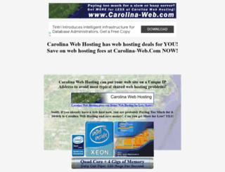 carolina-web.com screenshot