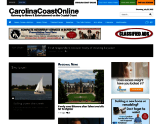 carolinacoastonline.com screenshot