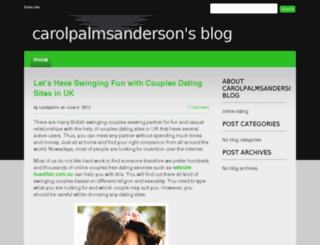 carolpalmsandersonsblog.devhub.com screenshot