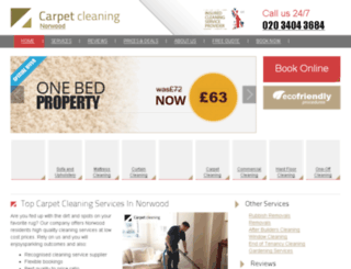 carpetcleaning-norwood.co.uk screenshot