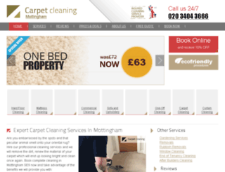 carpetcleaningmottingham.co.uk screenshot