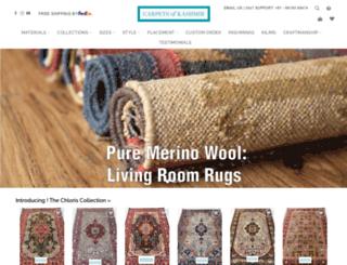 carpetsofkashmir.com screenshot