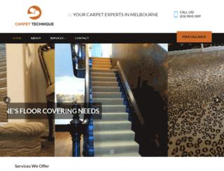 carpettechnique.com.au screenshot