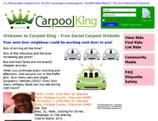 carpoolking.com screenshot