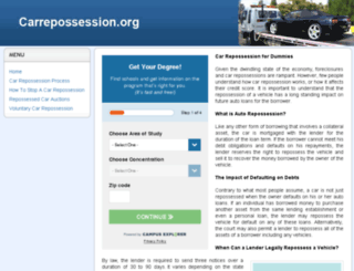 carrepossession.org screenshot