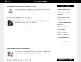 carrodegaragem.com screenshot
