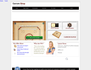 carromshop.co.uk screenshot