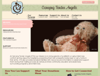 carryingtenderangels.org screenshot