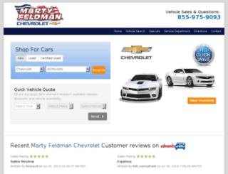 cars.martyfeldmanchevy.com screenshot