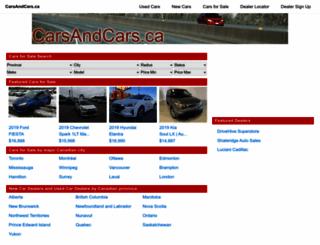 carsandcars.ca screenshot