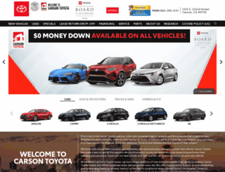 carsontoyota.com screenshot