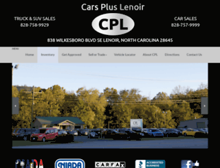 carspluslenoir.com screenshot
