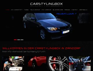 carstylingbox-zirndorf.de screenshot